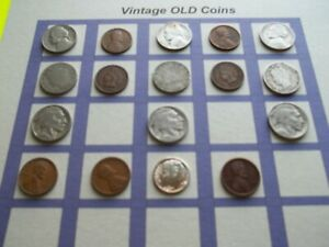ESTATE LOT OF OLD COINS 50 TO 125 YEARS OLD WITH SOME SILVER  17 COINS   OC13