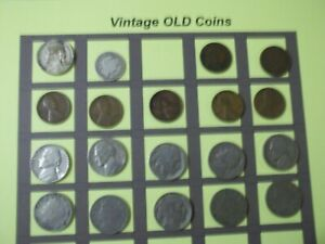 ESTATE LOT OF OLD COINS 50 TO 125 YEARS OLD WITH SOME SILVER  19 COINS   OC49
