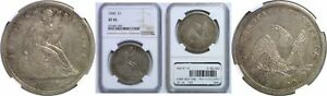 1840 SEATED LIBERTY DOLLAR NGC XF 45