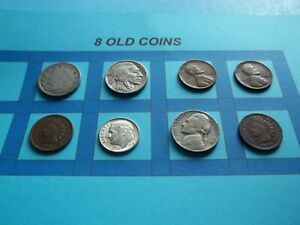 VINTAGE LOT OF 8 OLD AND  COINS THAT ARE 50 125 YEARS OLD  8 COINS  IVBW72