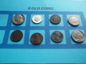 VINTAGE LOT OF 8 OLD AND  COINS THAT ARE 50 125 YEARS OLD  8 COINS  IVBW 71