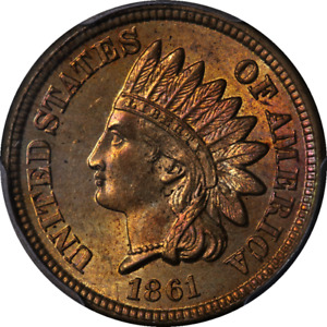 Click now to see the BUY IT NOW Price! 1861 INDIAN CENT PCGS MS65 GREAT EYE APPEAL FANTASTIC LUSTER STRONG STRIKE