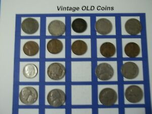 ESTATE LOT OF OLD COINS 50 TO 125 YEARS OLD WITH SOME SILVER  18 COINS   OC60