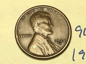 1925 S 1C BN LINCOLN CENT 9630W WHEAT PENNY