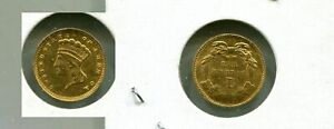1868 $1 LIBERTY HEAD GOLD TYPE COIN AU 8231M