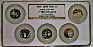 Click now to see the BUY IT NOW Price! 2000 S SILVER STATE QUARTER 5 COIN SET NGC PF 70 ULTRA CAMEO. MULTI COIN HOLDER