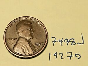 1927 D LINCOLN CENT WHEAT PENNY BETTER MINT / DATE  7498W