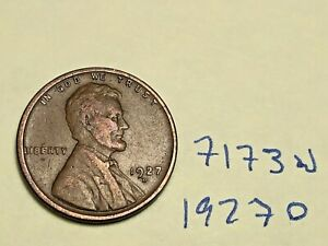 1927 D LINCOLN CENT WHEAT PENNY BETTER MINT / DATE  7173W