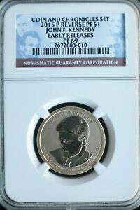 KAPPYS  1 30 16 2015P KENNEDY CHRONICLES REVERSE PROOF DOLLAR NGC PF69 EARLY REL