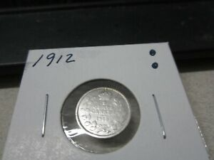 1912   CANADA   SILVER FIVE CENT   CIRCULATED NICKEL   NICE COIN