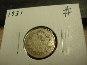 1931   CANADA 10 CENT   SILVER CANADIAN DIME