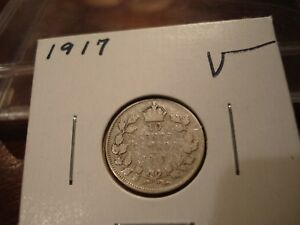 1917   CANADA 10 CENT   SILVER CANADIAN DIME