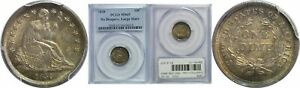 Click now to see the BUY IT NOW Price! 1838 SEATED LIBERTY DIME PCGS MS 65 NO DRAPERY LARGE STARS