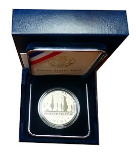 2010 W AMERICAN VETERANS DISABLED FOR LIFE SILVER PROOF DOLLAR BOX & COA BOPEF2