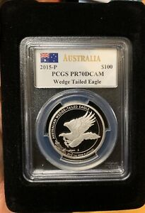 Click now to see the BUY IT NOW Price! AUSTRALIA 2015 1 OZ PLATINUM $100 WEDGE TAILED EAGLE COIN PCGS PR70 DC