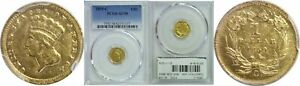 Click now to see the BUY IT NOW Price! 1859 C $1 GOLD COIN PCGS AU 58