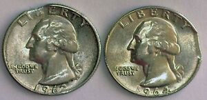 2 PCS.   SILVER 25S  CLIPPED PLANCHETS