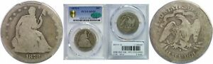 Click now to see the BUY IT NOW Price! 1878 S SEATED LIBERTY HALF DOLLAR PCGS AG 3 CAC