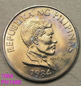 PHILIPPINES PISO 1984 UNCIRCULATED WITH TONING  IN UNITED STATES