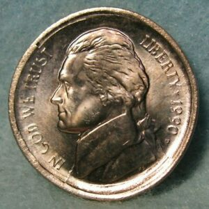 1990 P MULTI STRUCK BROADSTRUCK JEFFERSON NICKEL US MINT ERROR COIN CHOICE BU