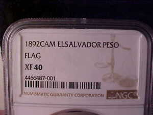 Click now to see the BUY IT NOW Price! EL SALVADOR FLAG PESO 1892 NGC XF 40