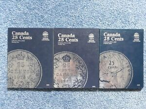 Click now to see the BUY IT NOW Price! PARTIAL SET CANADA SILVER 25C 1872 1967  61 DIFFERENT DATES  IN 3 FOLDERS