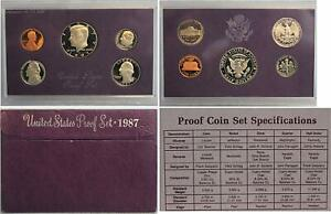 1987 S UNITED STATES PROOF SET OF COINS 1987 BIRTH YEAR SET