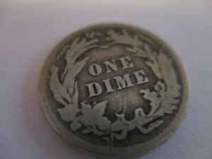 1911 UNITED STATES BARBER DIME  109 YEARS OLD