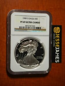 1989 S PROOF SILVER EAGLE NGC PF69 ULTRA CAMEO BROWN LABEL  SEE MY OTHERS