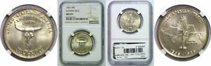 1935 SPANISH TRAIL SILVER COMMEMORATIVE NGC MS 67