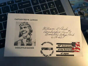 WILLIAM BIRCH JIMMY DOOLITTLE RAIDERS CREW 11 WWII AUTOGRAPH SIGNED COVER ENV.