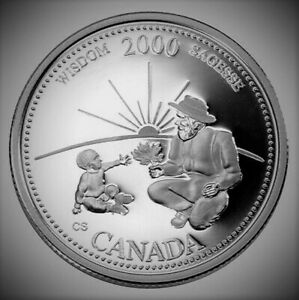 2000 Canada Millennium Series September Wisdom 25 Cents Gem BU UNC Quarter!!