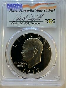 Click now to see the BUY IT NOW Price! 1977 EISENHOWER DOLLAR  PCGS PR70DCAM