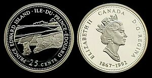 Canada 1992 Proof Like Twenty-Five Cent Piece!!