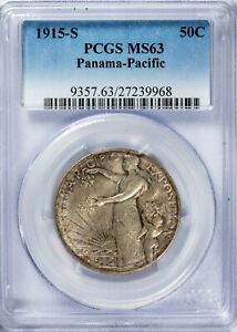 Click now to see the BUY IT NOW Price! 1915 S 50C PANAMA PACIFIC PCGS MS63 SILVER COMMEMORATIVE HALF DOLLAR