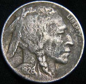VERY FINE 1926 D BUFFALO NICKEL 5  VF DETAIL PITTED/POROSITY FY16IW