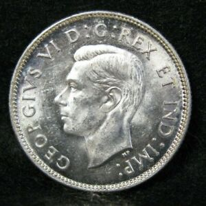 1940 CANADA SILVER 25 CENTS CHOICE BRILLIANT UNCIRCULATED   CANADIAN COIN 4051