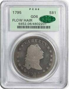 1795 BUST SILVER DOLLAR FLOWING HAIR G06 PCGS/CAC