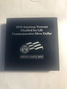 2010 AMERICAN VETERANS DISABLED COMMEMORATIVE SILVER DOLLAR
