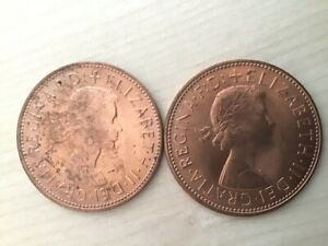 TWO 1967 UNCIRCULATED PENNIES