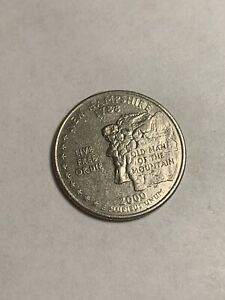 2000 D THE OLD MAN OF THE MOUNTAIN  NEW HAMPSHIRE  QUARTER UNCIRCULATED US MINT