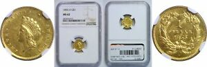 Click now to see the BUY IT NOW Price! 1855 O $1 GOLD COIN NGC MS 62