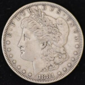 1881 FINE MORGAN SILVER DOLLAR