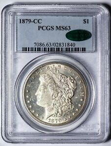 1879 CC MORGAN   KEY DATE  PCGS MS63 CAC VERIFIED SOLID FOR THE GRADE