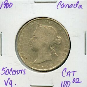 1900 CANADA 50 CENTS SILVER CANADIAN COIN FR193