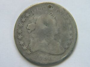 1796 SMALL EAGLE DRAPED BUST DOLLAR GOOD DETAILS
