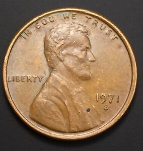 1971 S LINCOLN PENNY DOUBLED DIE WITH RIM ERROR