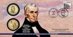 2009 1ST DAY COIN COVER P29 WILLIAM HENRY HARRISON P & D MINTS