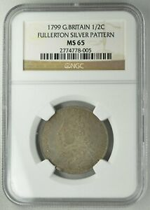Click now to see the BUY IT NOW Price! GEORGE III GREAT BRITAIN  1/2 CROWN 1799 FULLERTON RAINBOWTONE NGC  MS65  SILVER