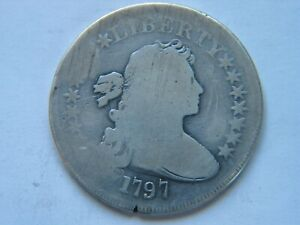 1797 SMALL EAGLE DRAPED BUST DOLLAR GOOD / VG DETAILS